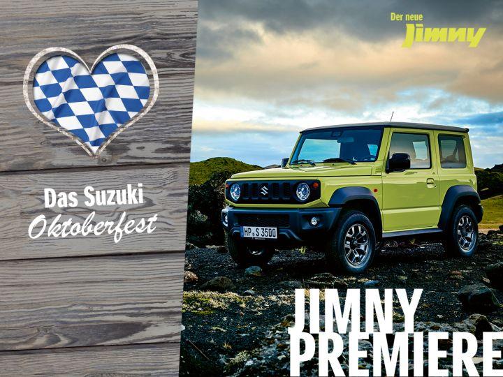 Der Neue Suzuki Jimny Premiere 20.10.2018 von 10:00 – 16:00 Uhr.